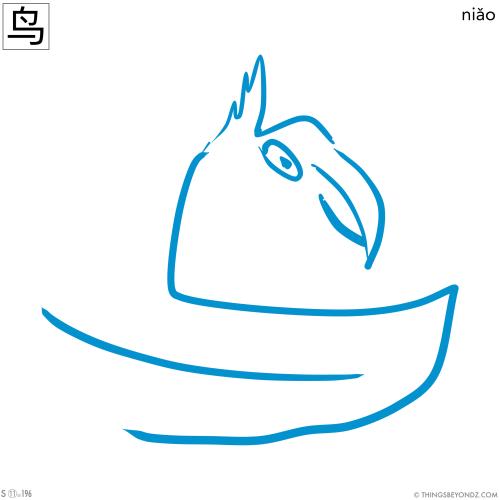 kangxi-radical-11-196-simplified-niao3-bird
