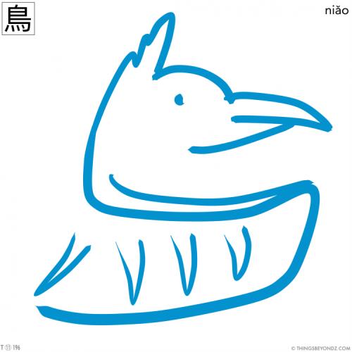 kangxi-radical-11-196-traditional-niao3-bird