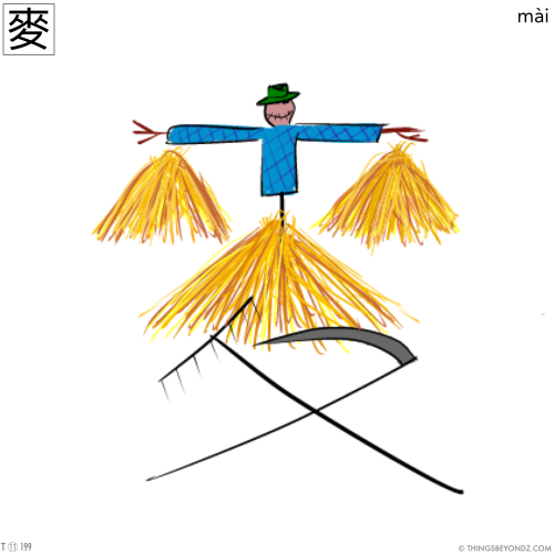kangxi-radical-11-199-traditional-mai4-wheat