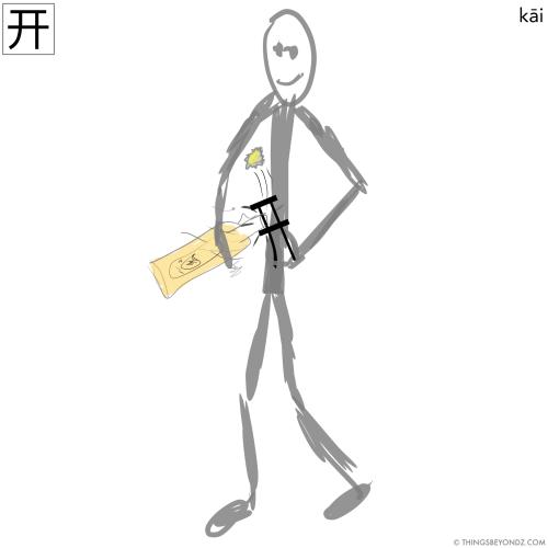 hanzi-kai1-to-open