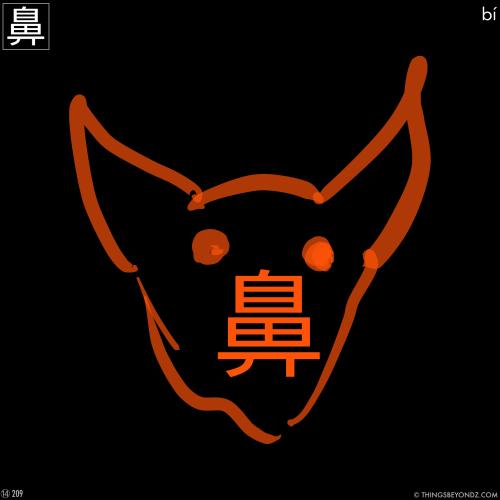 kangxi-radical-14-209-bi2-nose2