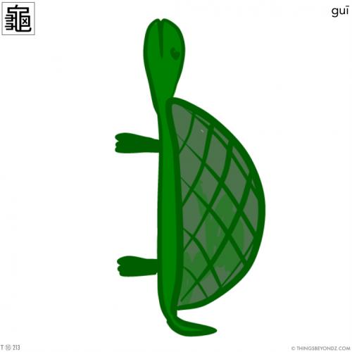 kangxi-radical-16-213-traditional-gui1-turtle