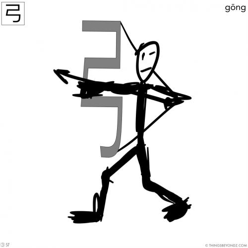kangxi-radical-3-57-gong1-bow