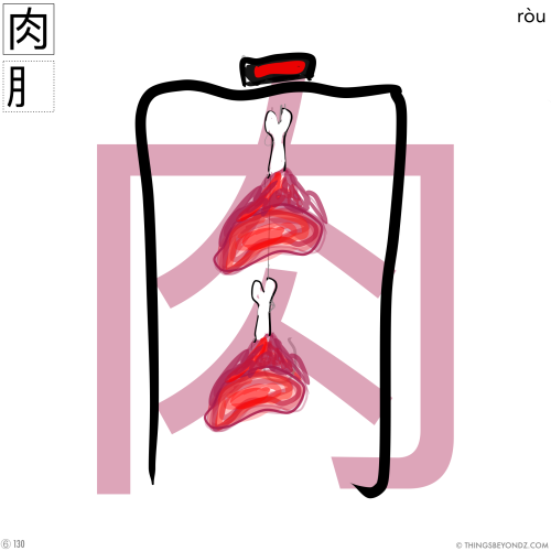 kangxi-radical-6-130-rou4-meat