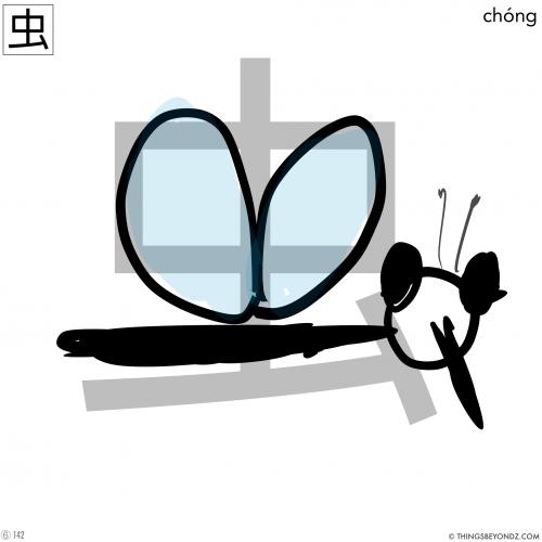 kangxi-radical-6-142-chong2-insect