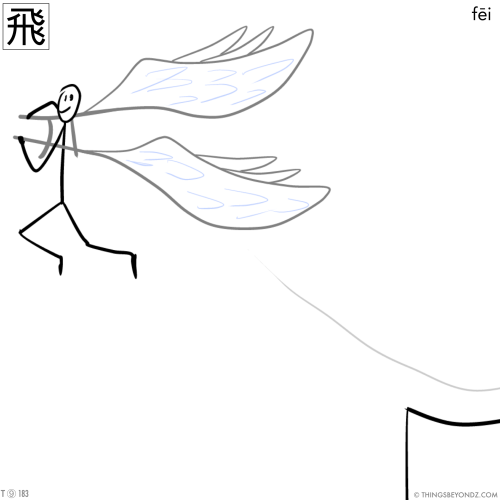 kangxi-radical-9-183-traditional-fei1-to-fly