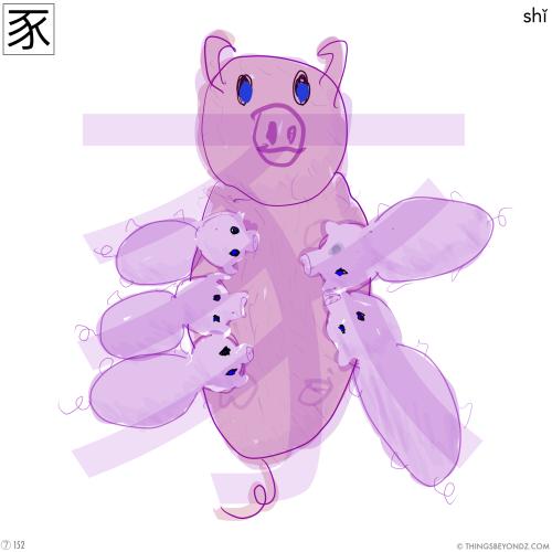 kangxi-radical-7-152-shi3-pig