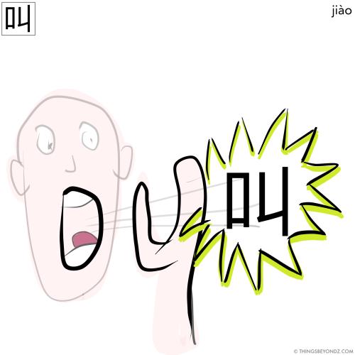 hanzi-jiao4-to-call
