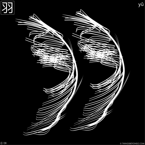 kangxi-radical-6-124-yu3-feather