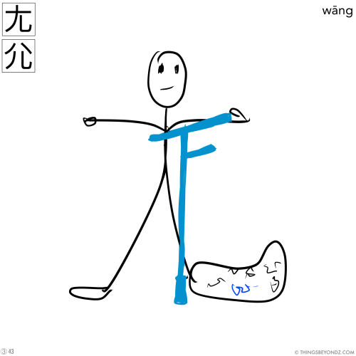 kangxi-radical-3-43-wang1-lame