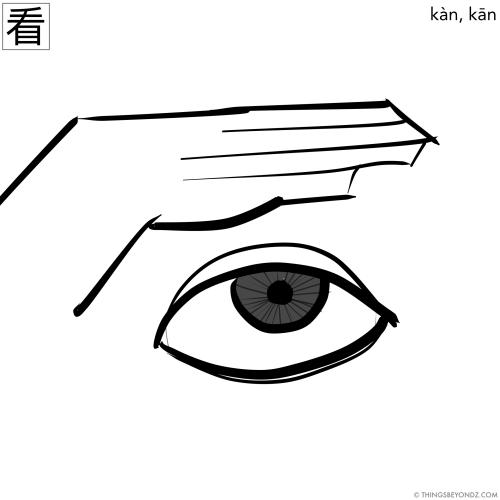 hanzi-kan4-kan1-watch