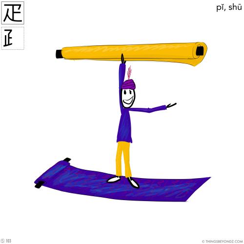 kangxi-radical-5-103-pi3-shu1-bolt-of-cloth