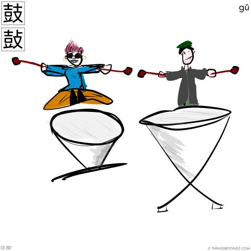 kangxi-radical-13-207-gu3-drum