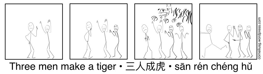 Three Men Make A Tiger