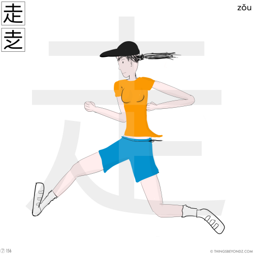kangxi-radical-7-156-zou3-run